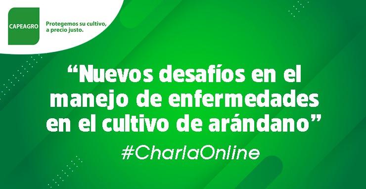 #CharlaOnline: Nuevos desafíos en el manejo de enfermedades en el cultivo de arándano